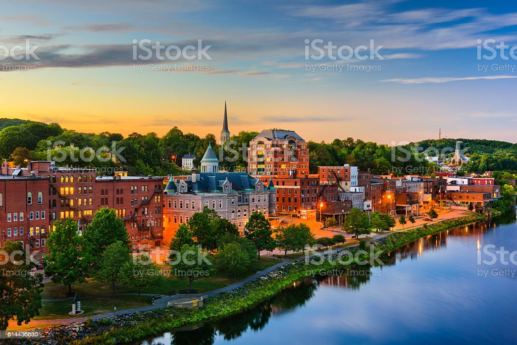 Augusta, Maine, USA stock photo
