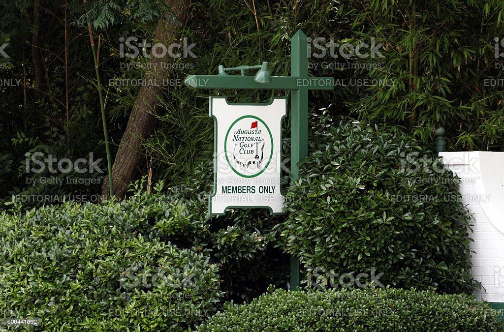Augusta National Golf Club stock photo