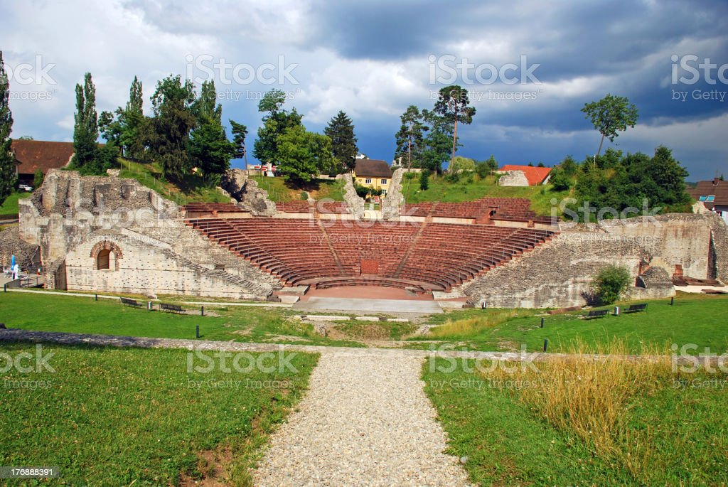 Augusta Raurica Roman theater stock photo