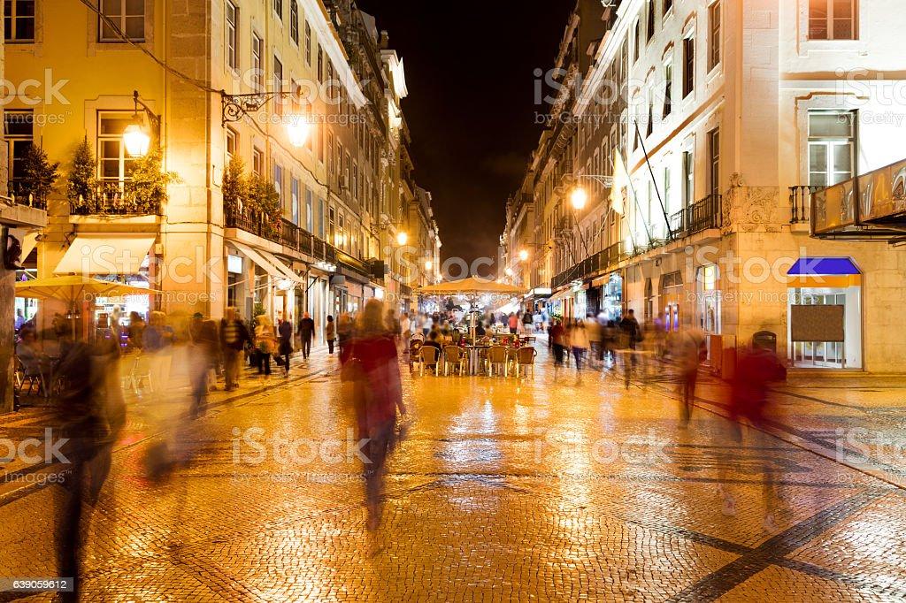 Augusta Street in Lisbon stock photo