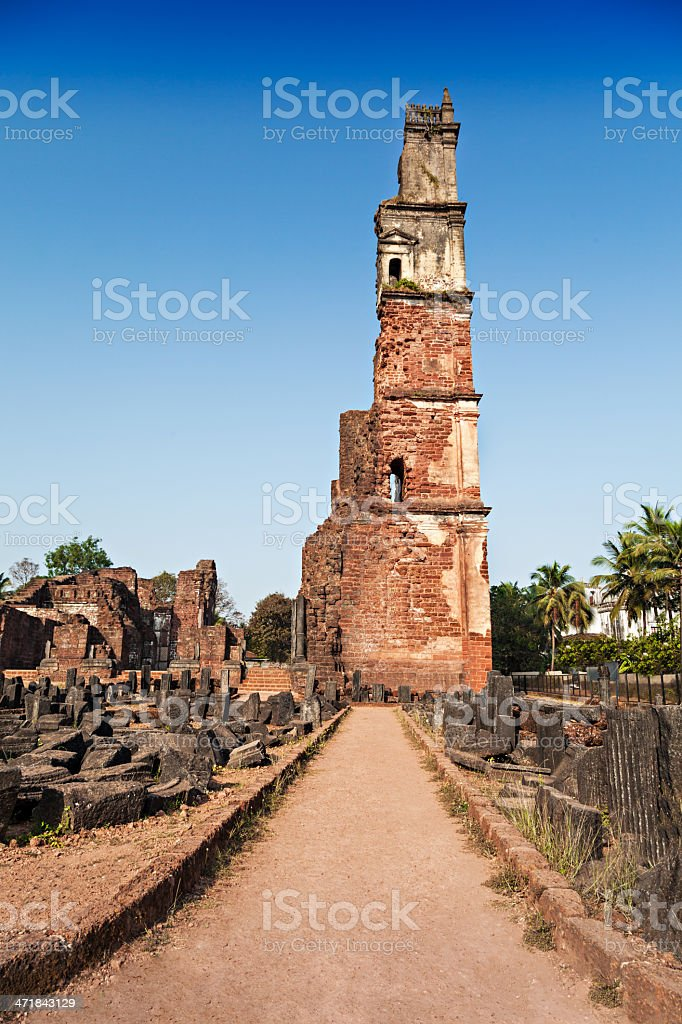 Augustine ruins royalty-free stock photo