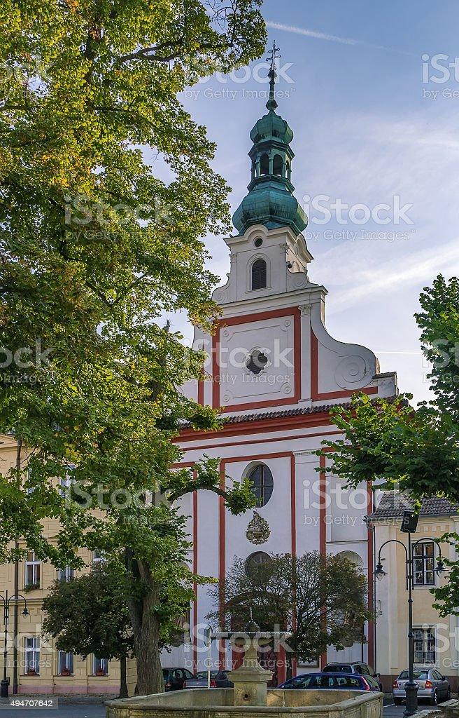 augustinian church, Tabor, Czech republic stock photo