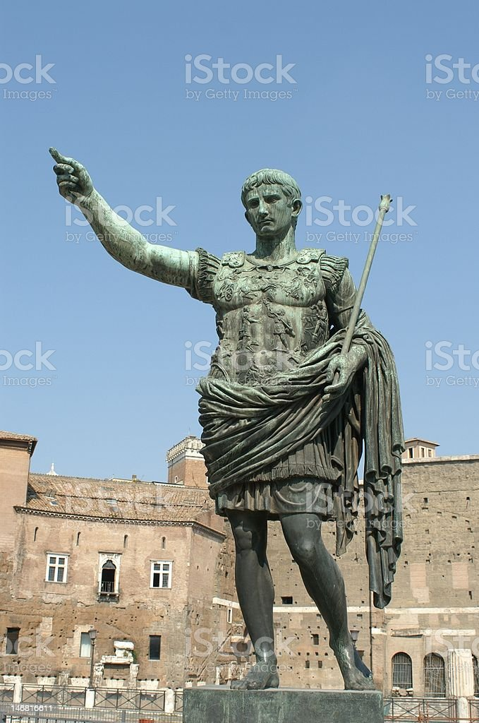 Augustus Caesar stock photo