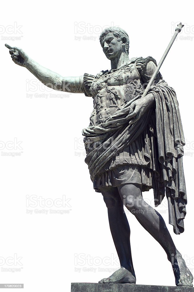 Augustus, Roman Emperor royalty-free stock photo