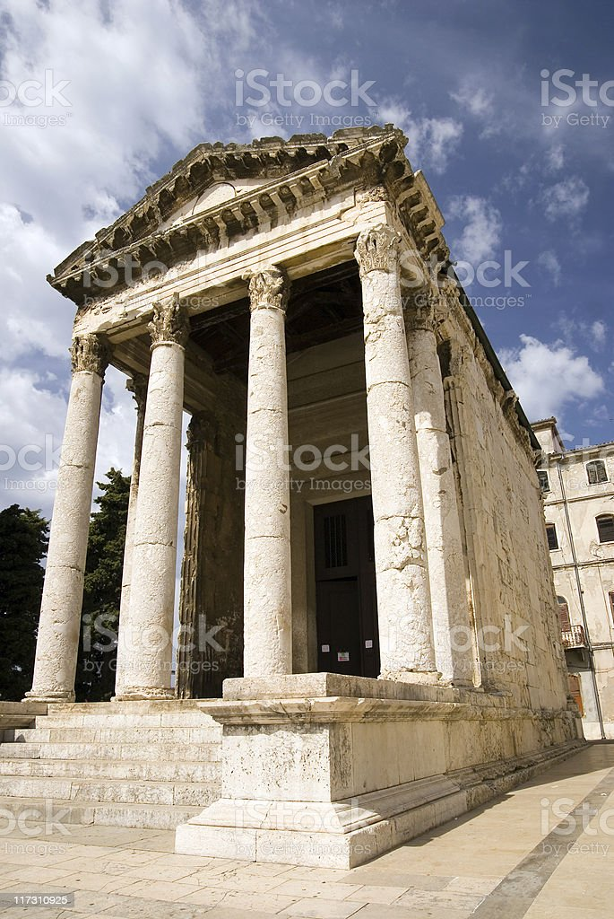 Augustus temple in Pula royalty-free stock photo