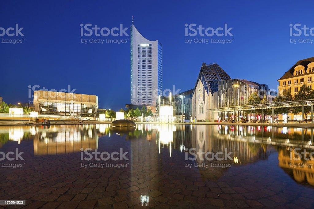 Augustusplatz in Leipzig, Germany royalty-free stock photo