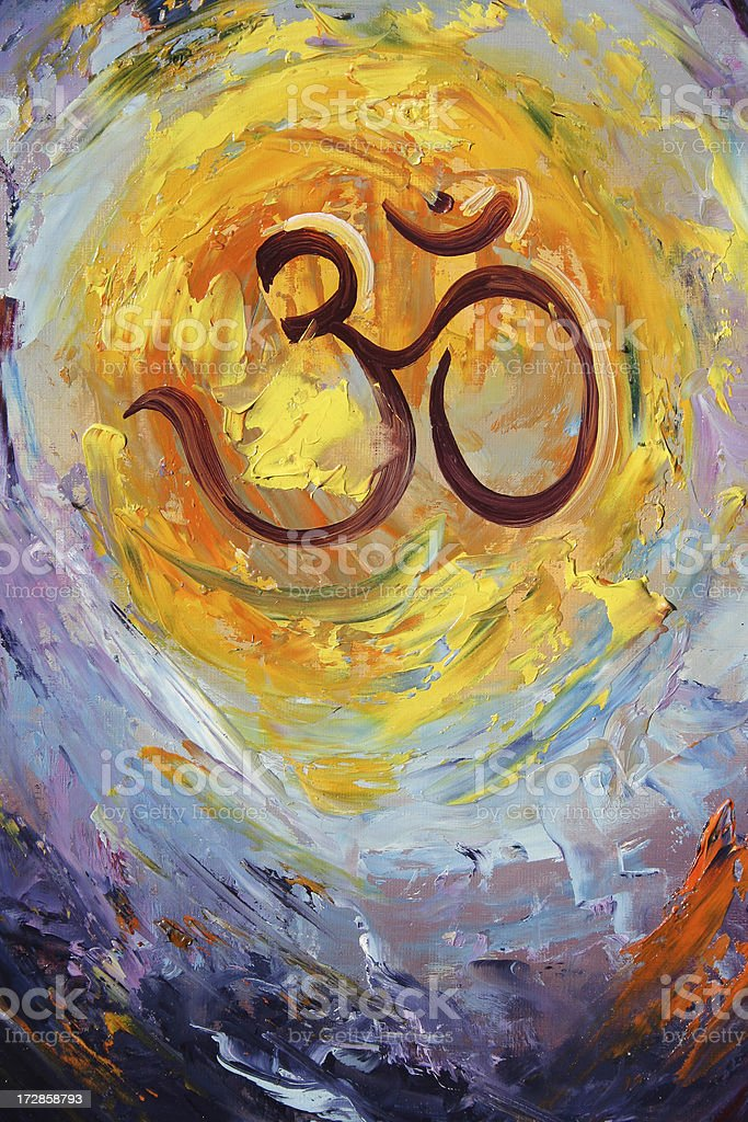 Aum background royalty-free stock photo