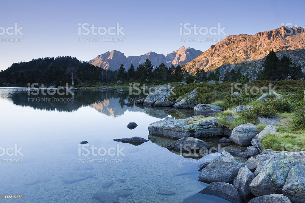 Aumar Lake, French Pyrenees stock photo