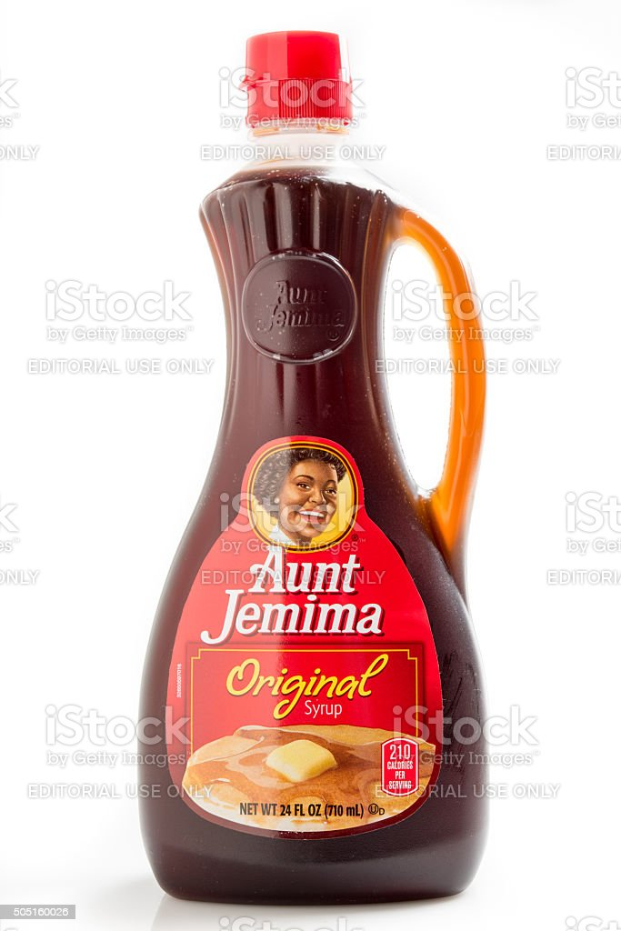 Aunt Jemima Brand Original Syrup stock photo