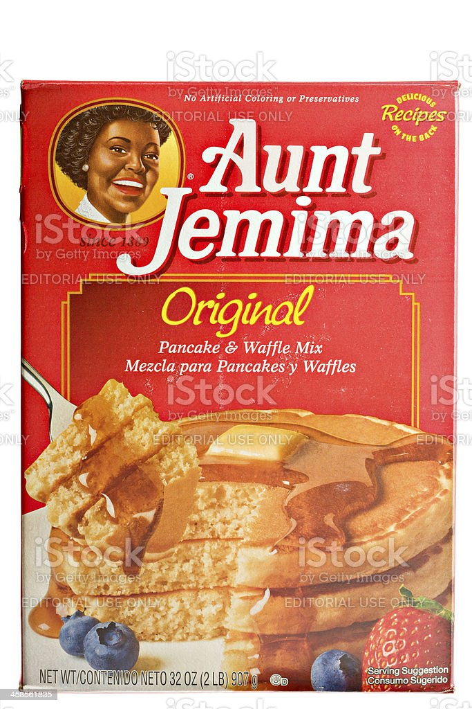 Aunt Jemima Pancake And Waffle Mix. stock photo