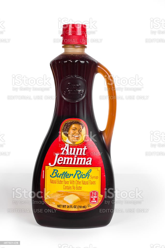 Aunt Jemima Syrup stock photo