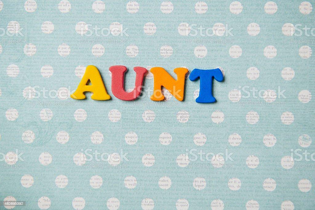 Aunt stock photo