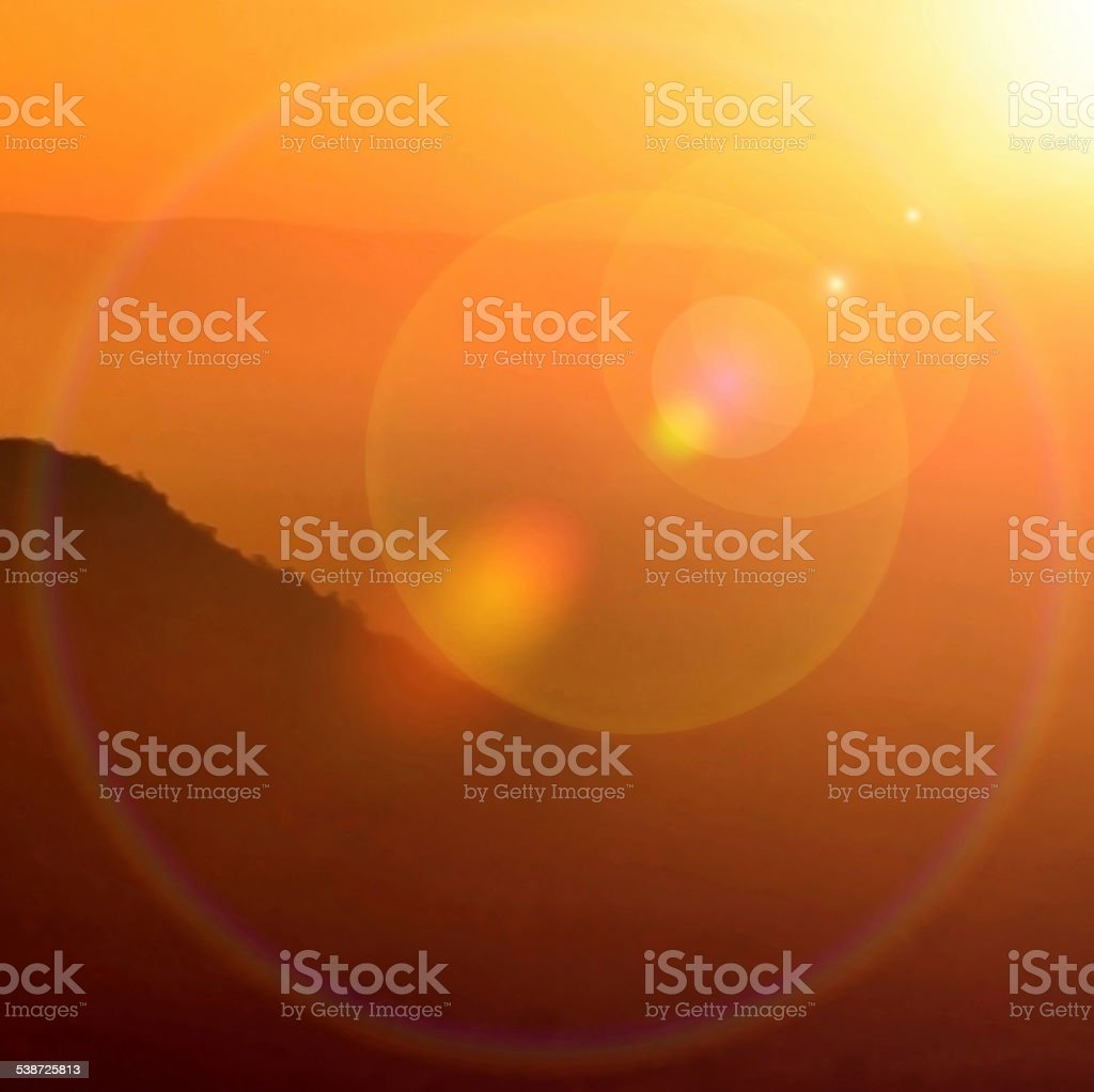 Aura sun stock photo
