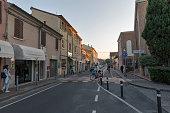Aurelio Saffi old street in Rimini, Italy.