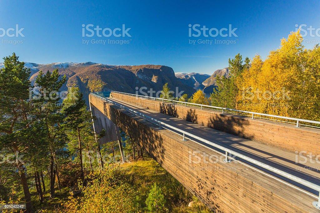 Aurland balcony stock photo