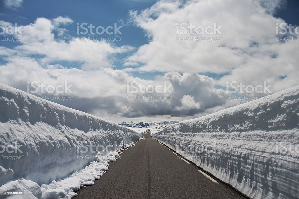 Aurland mountain national route, Norway stock photo