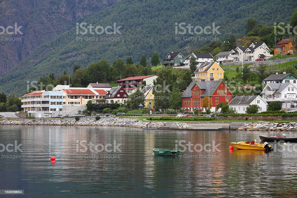 Aurland stock photo