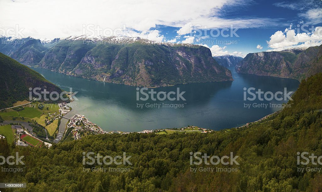 Aurland - Stegastein viewpoint Norway royalty-free stock photo