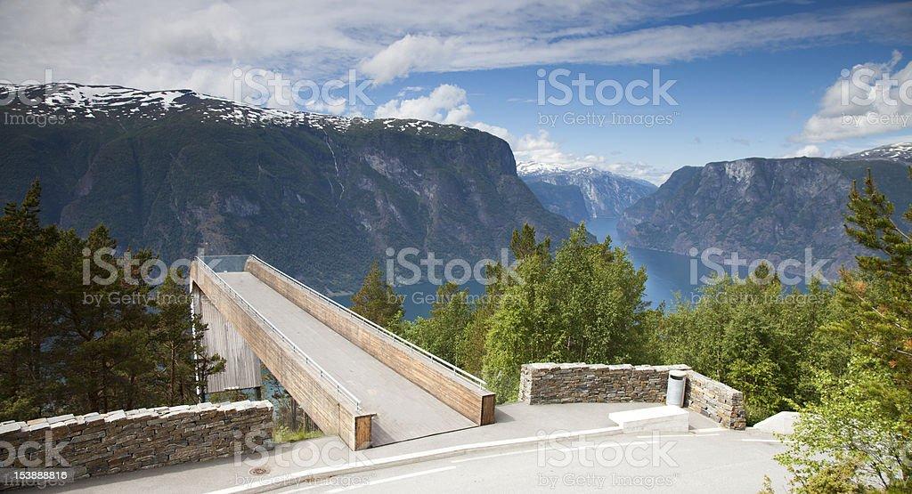 Aurland - Stegastein viewpoint Norway royalty-free stock photo