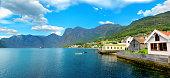 Aurland village. Aurlandsfjord,  Norway