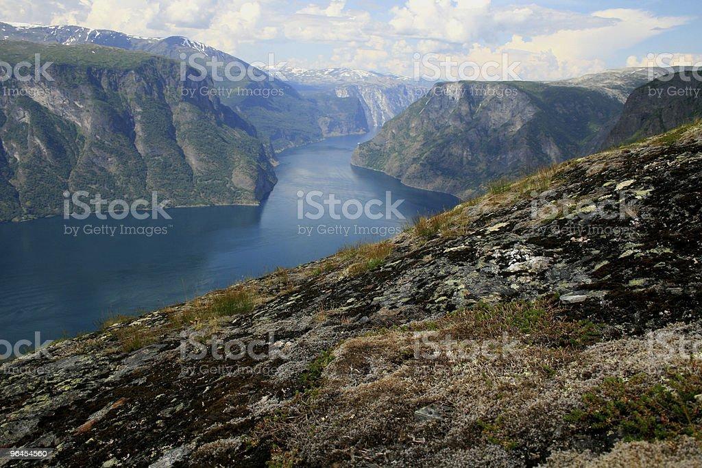 Aurlandfjord Scenic, Norway stock photo