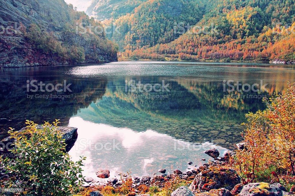 Aurlandsdalen hiking stock photo