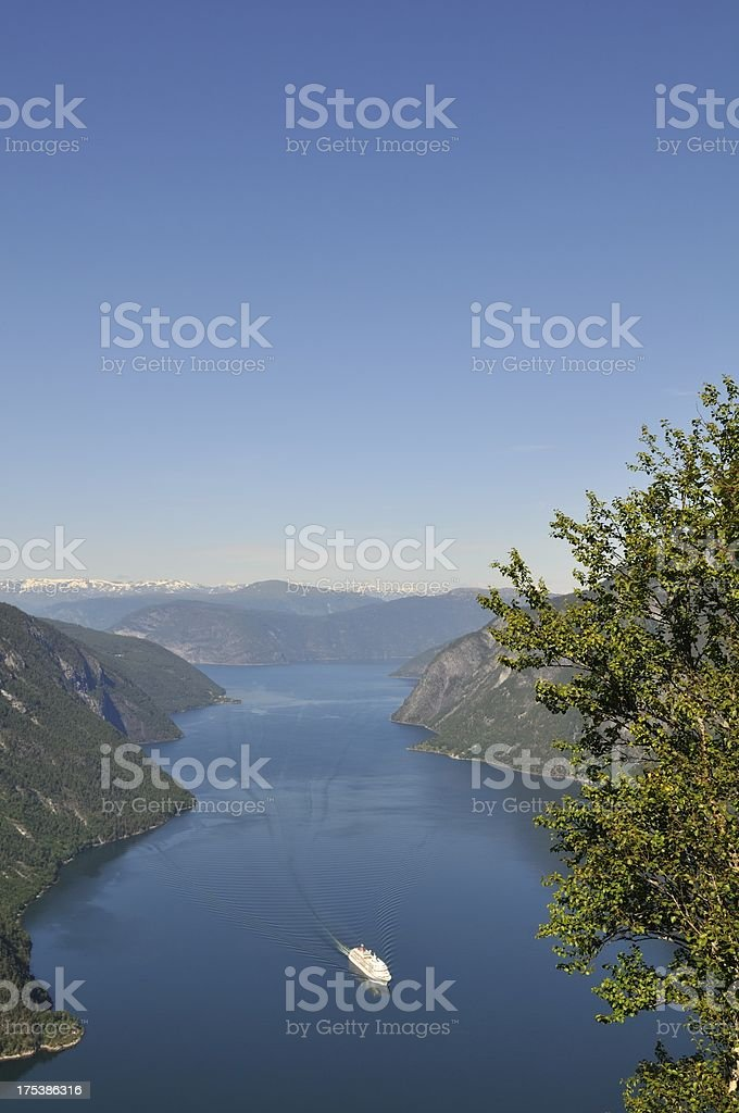 Aurlandsfjord view royalty-free stock photo