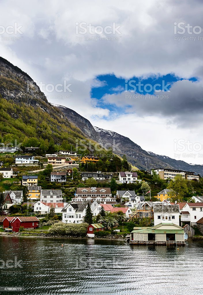 Aurlandsvangen, Norway stock photo