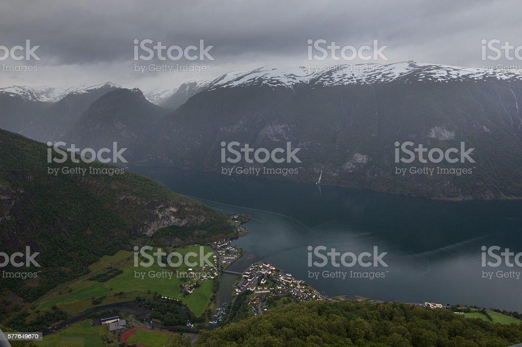 Aurlandsvegen, Norway stock photo