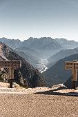 Auronzo di cadore landmark view in the alps