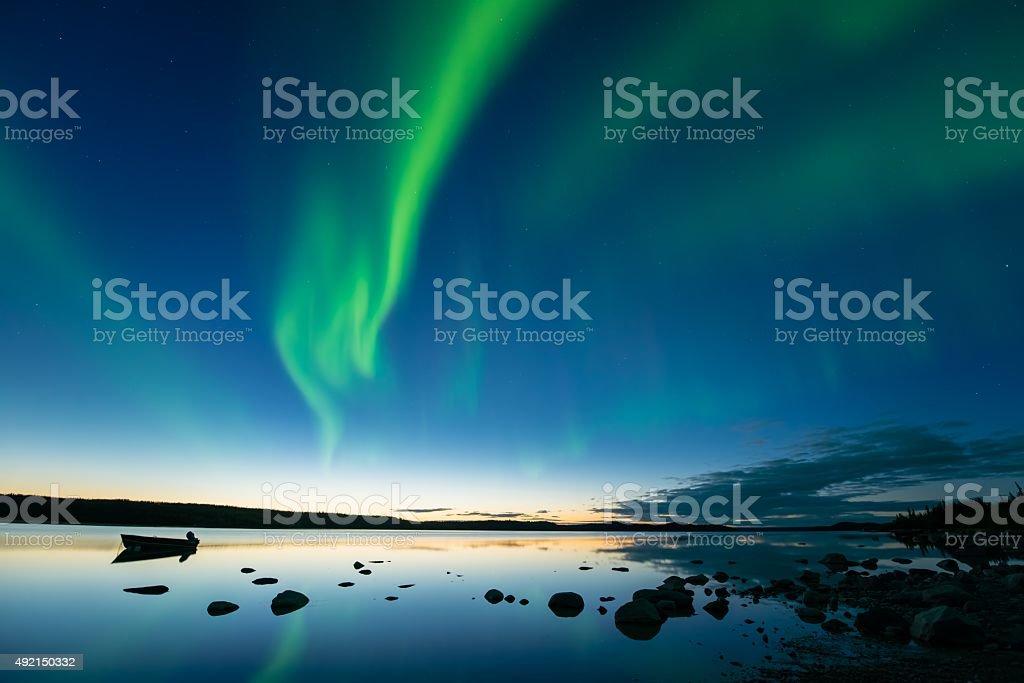 Aurora at Dusk stock photo