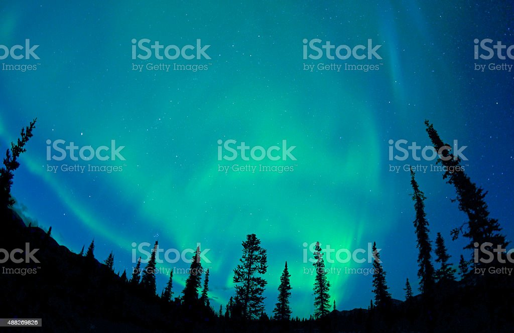 Aurora Borealis, Alaska stock photo