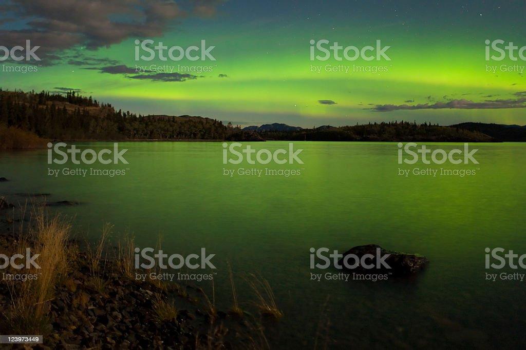 Aurora borealis (Northern lights) display royalty-free stock photo