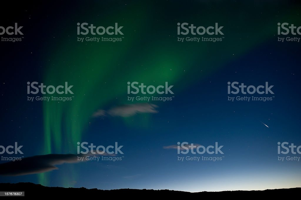 aurora borealis, iceland royalty-free stock photo
