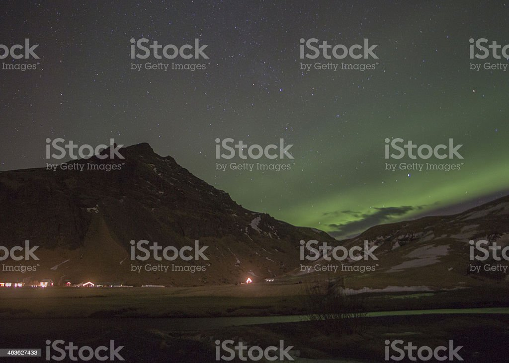 Aurora Borealis, Iceland stock photo