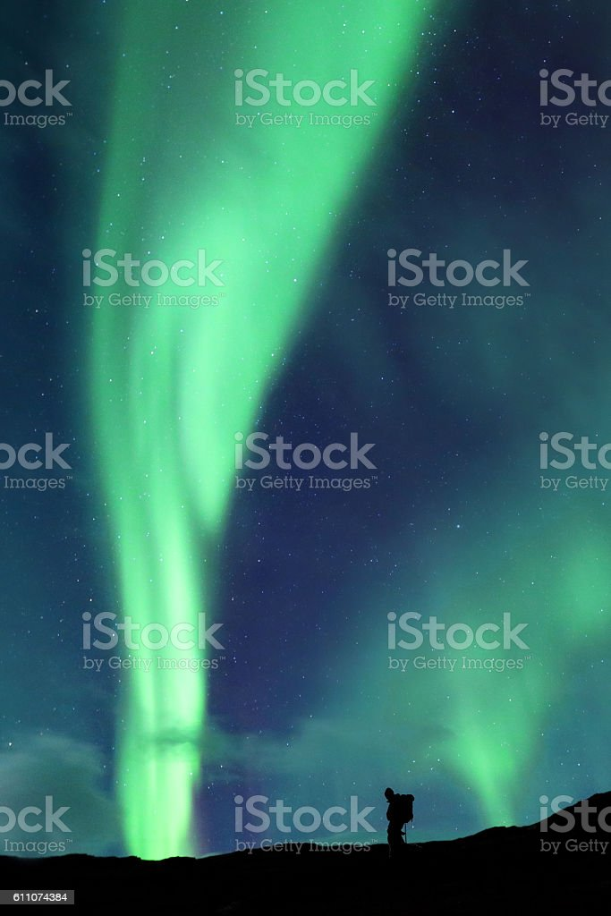 Aurora Borealis Iceland stock photo