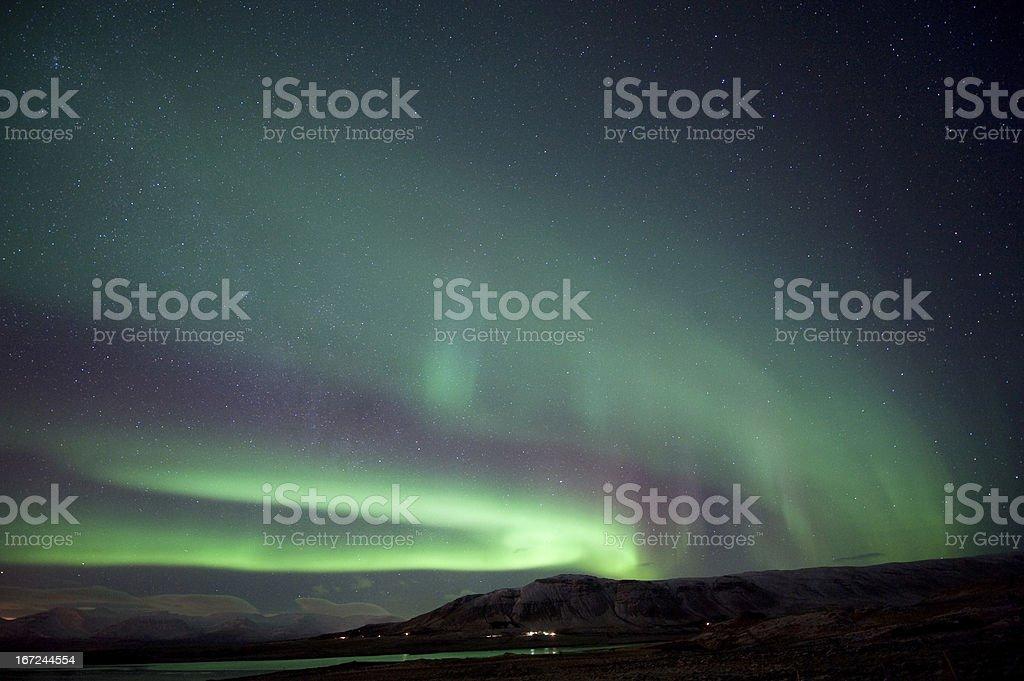 Aurora Borealis in Iceland royalty-free stock photo