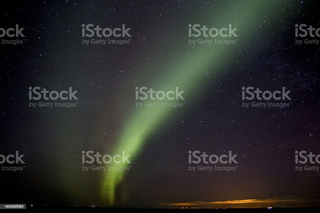 Aurora Borealis in Iceland stock photo