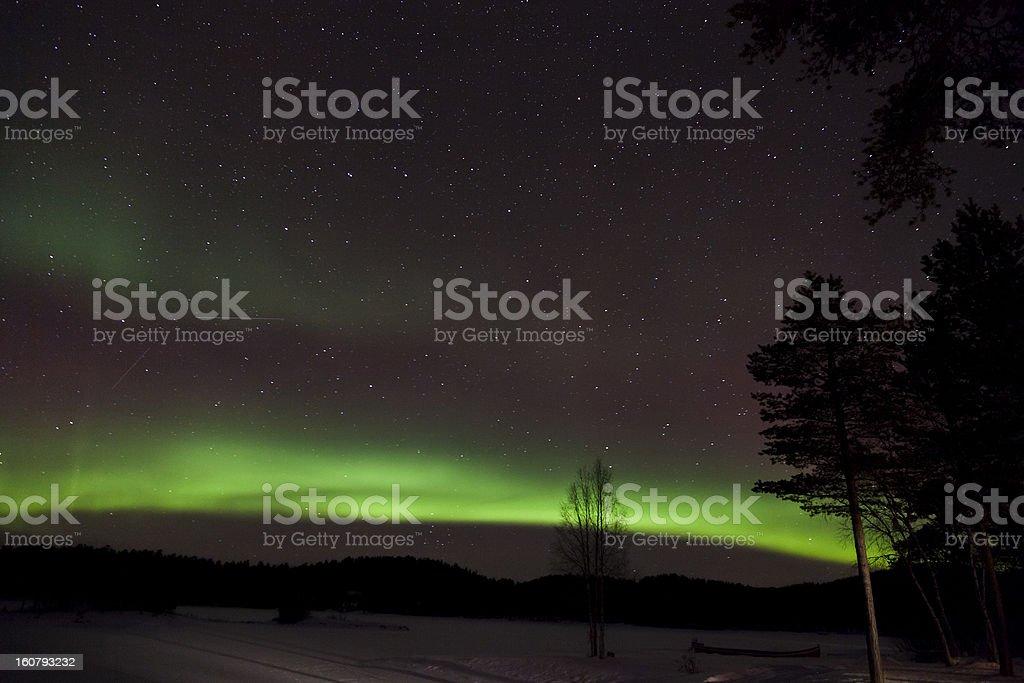 Aurora Borealis in Inari, Lapland, Finland royalty-free stock photo