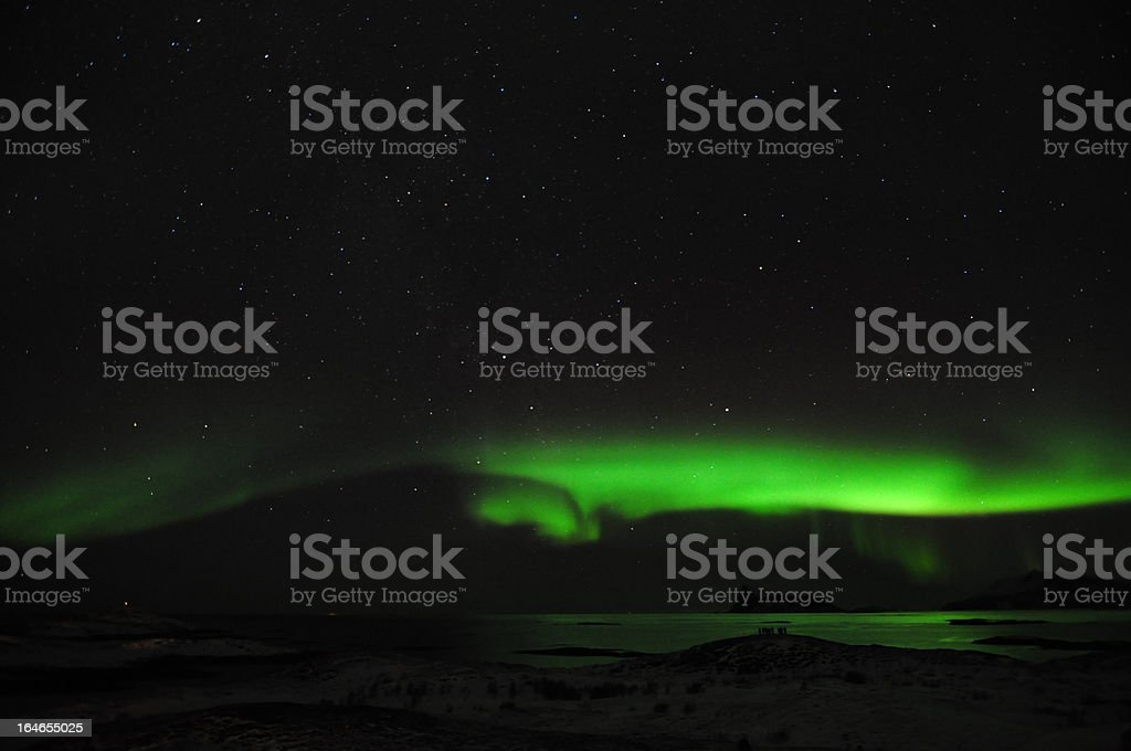 Aurora borealis in northern Norway royalty-free stock photo