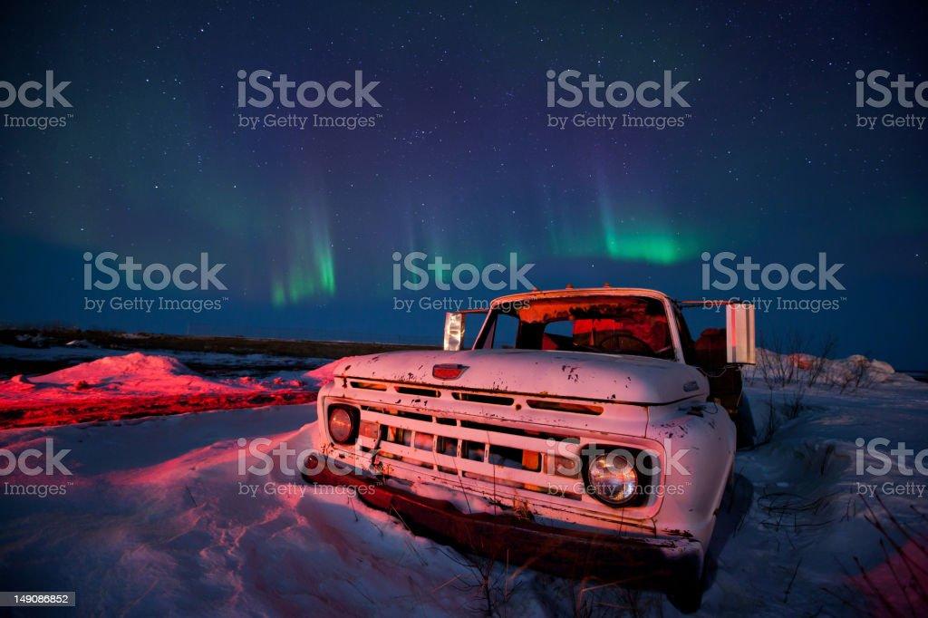 Aurora Borealis Night Sky royalty-free stock photo