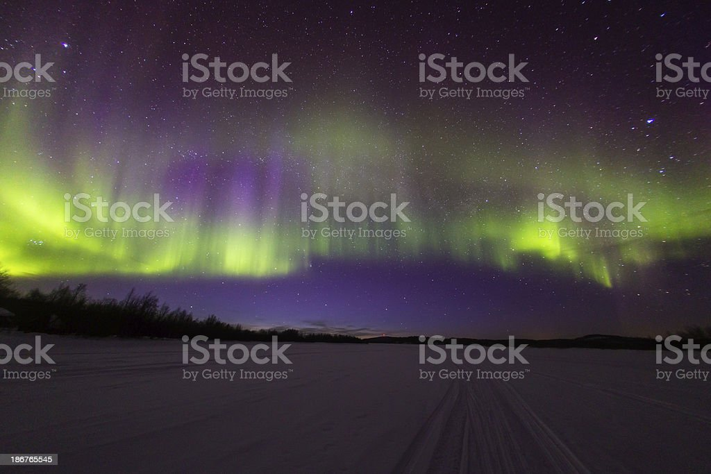 Aurora Borealis Northern light in Norway royalty-free stock photo