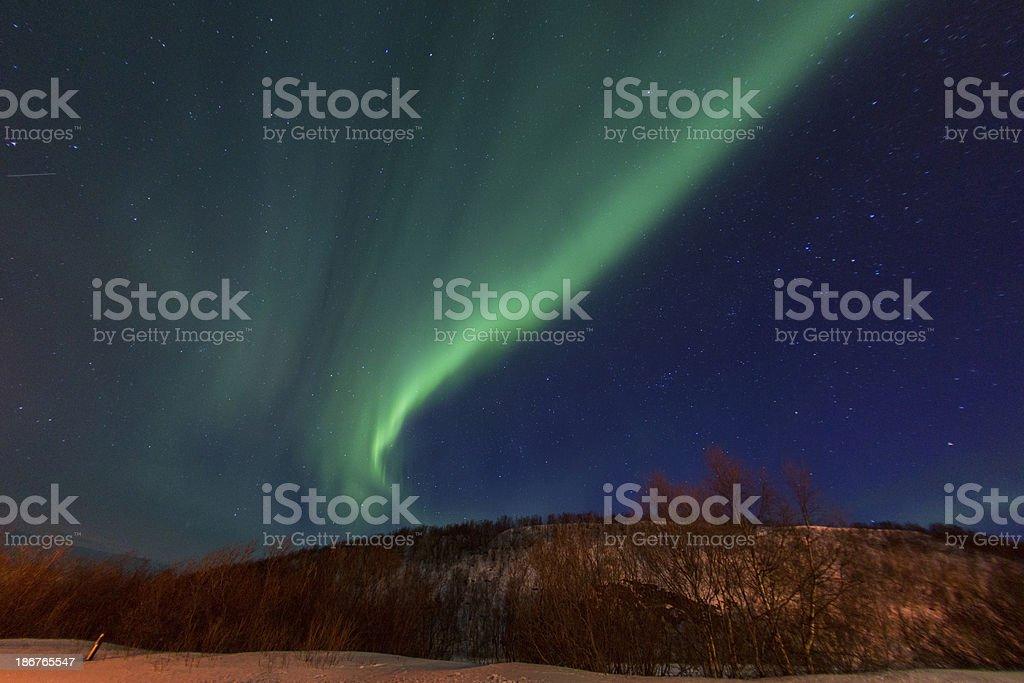 Aurora Borealis Northern light in Norway royalty-free stock photo
