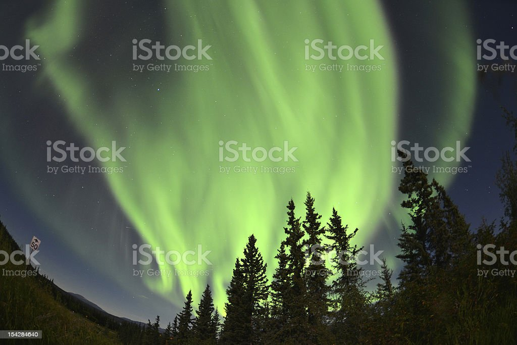 Aurora Borealis, Northern Lights stock photo