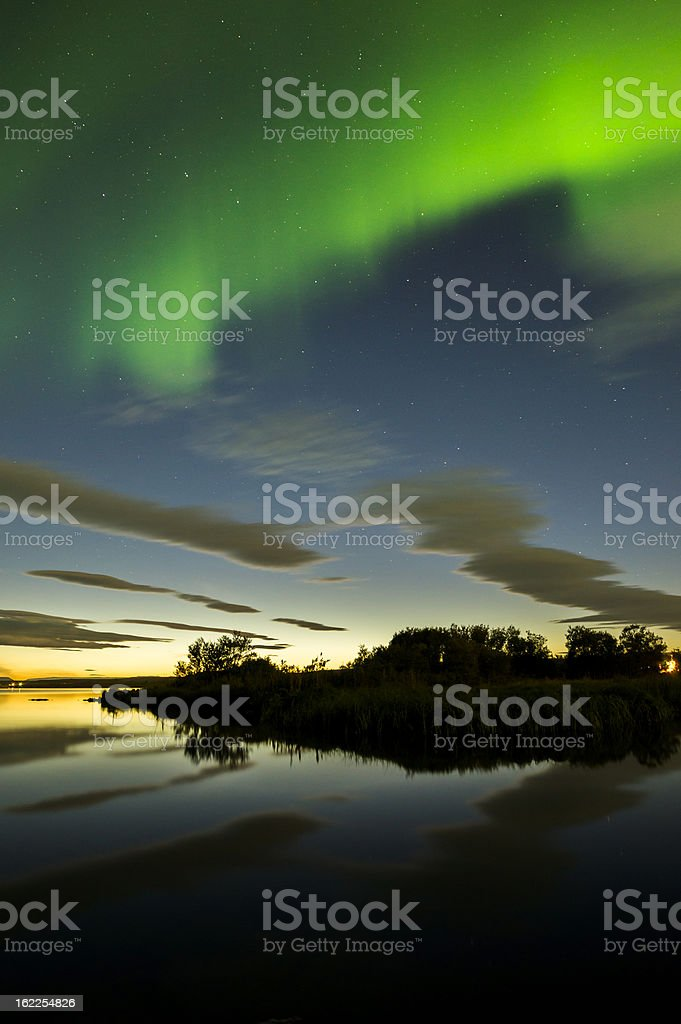 aurora borealis on iceland stock photo