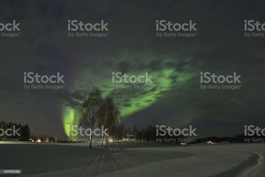Aurora borealis royalty-free stock photo