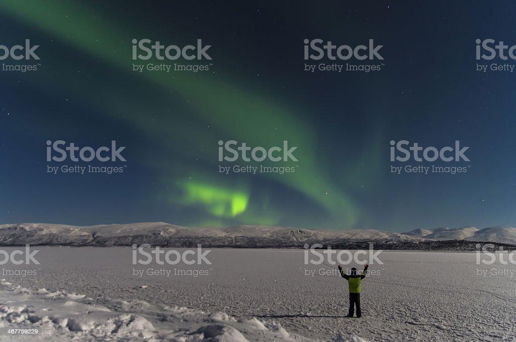 Aurora Borealis (Northern Lights) stock photo