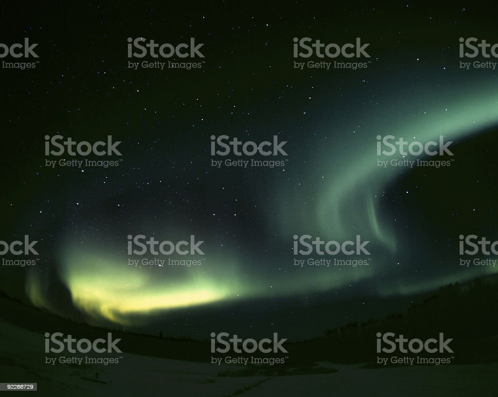 Aurora borealis, waves royalty-free stock photo