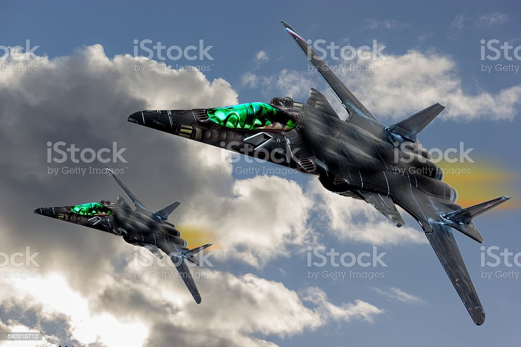 SR-91 Aurora concept fighter. stock photo