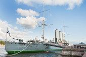 Aurora cruiser, the battleship of Great October Communist Revolution 1917.